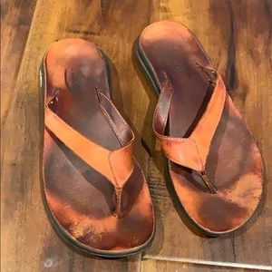 Chaco Leather Flip Flop Sandals Shoes